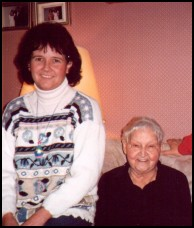 Annette Biggart with mother