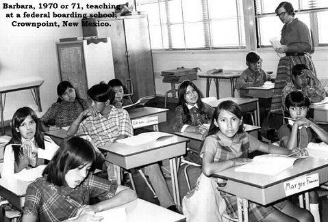 Barbara at Navajo school